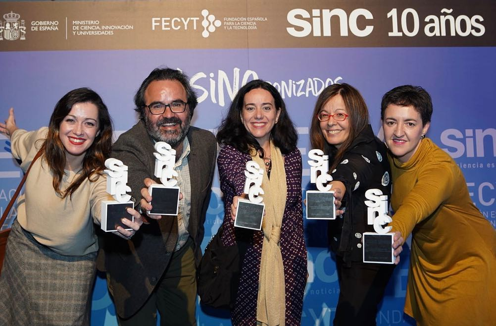 SINCronizados awardees. Image from FECYT