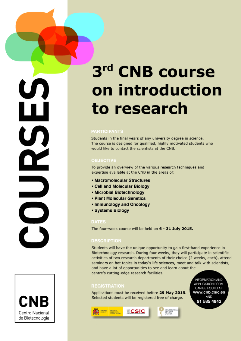 3rd CNB Course on Introduction to Research