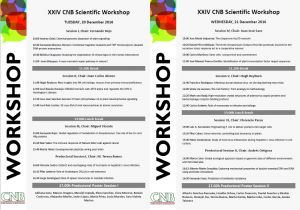 Programme for the XXIV CNB Scientific Workshop