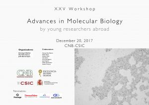 Programme: XXV Workshop Advances in Molecular Biology by Young Researchers Abroad (December 20, 2017)