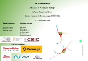 Programme: XXVI Workshop Advances in Molecular Biology by Young Researchers Abroad, 21st December 2018