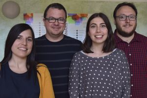 The group of Pablo Gastaminza at CNB-CSIC. From left to right: Gema Calvo, Pablo Gastaminza, Victoria Castro and Ginés Ávila